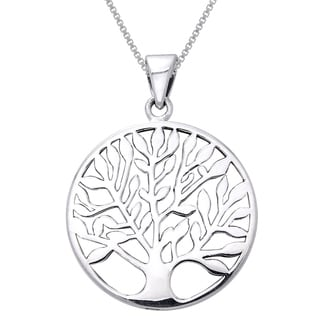 Carolina Glamour Collection Sterling Silver Large Celtic Tree of Life Necklace