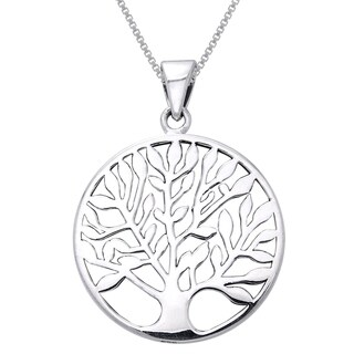 Sterling Silver Large Celtic Tree of Life Necklace