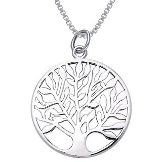 Carolina Glamour Collection Sterling Silver Celtic Tree of Life Charm Necklace