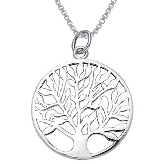 Sterling Silver Celtic Tree of Life Charm Necklace