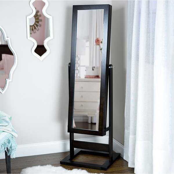 Standing Jewelry Box With Full Length Mirror