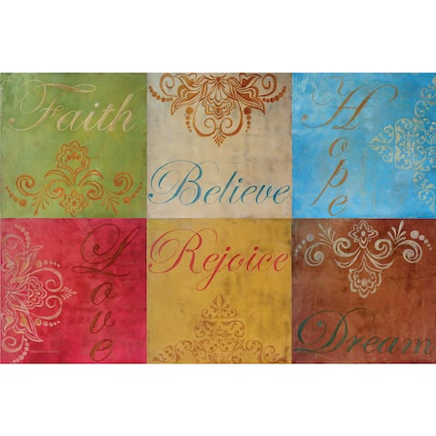 Counterart Reversible Wipe Clean Faith Placemats (Set of 4)