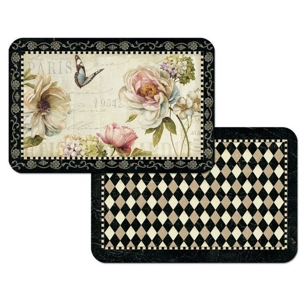 Counterart Reversible Wipe Clean Floral Placemats (Set of 4)