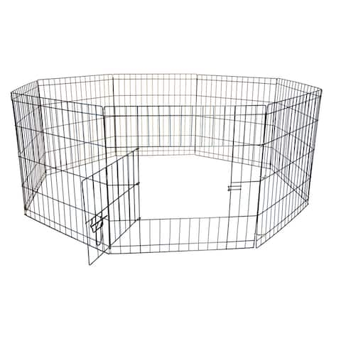 Iconic Pet Octagon Eight Panel Wire Portable Pet Pen