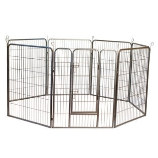 Heavy Duty Metal Tube Pen Pet Dog Exercise and Training Playpen