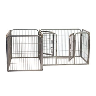 Iconic Pet Metal Heavy Duty Double Divided Tube Pet Training Kennel