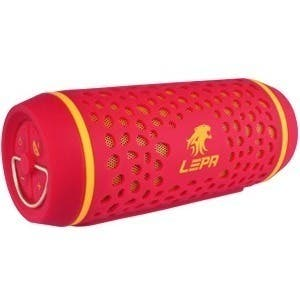 LEPA BTS02 2.0 Portable Bluetooth Speaker System - 8 W RMS - Red