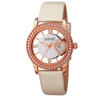August Steiner Women's Quartz Heart Design Watch with Satin Strap (2 options available)