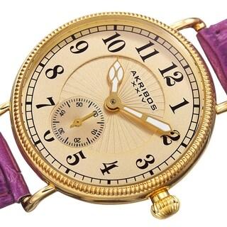 Akribos XXIV Women's Quartz Multifunction Leather Orange Strap Watch