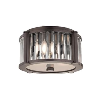 Hudson Valley Hartland I 2-Light Flush Mount, Old Bronze