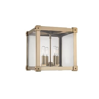 Hudson Valley Forsyth I 4-Light Flush Mount, Aged Brass