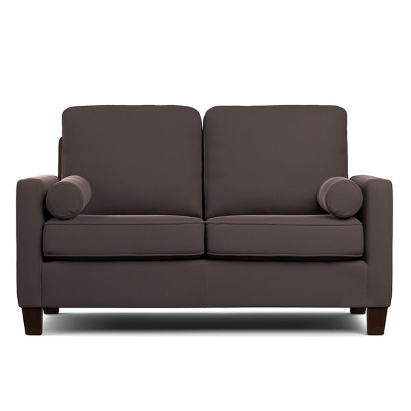 Handy Living Espen Brown Velvet Sofast Small E Sofa