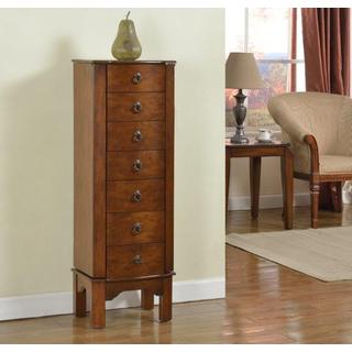 7-drawer Coffee Brown Jewelry Armoire