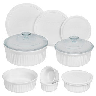 CorningWare French White Round 12-piece Set
