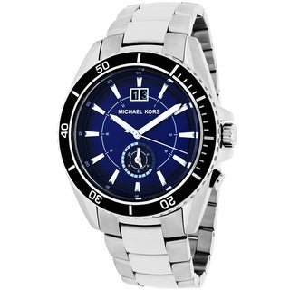 Michael Kors Men's MK8400 Jetmaster Round Silvertone Bracelet Watch