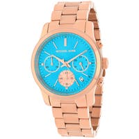 Michael Kors Women's MK6164 Runway Round Rose Gold-tone Bracelet Watch