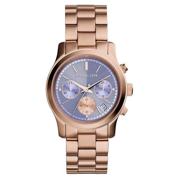 72142ac88a3f2 Shop Michael Kors Women s MK6163 Runway Round Rose Gold-tone Bracelet Watch  - Free Shipping Today - Overstock - 10183110