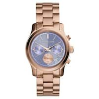 Michael Kors Women's MK6163 Runway Round Rose Gold-tone Bracelet Watch