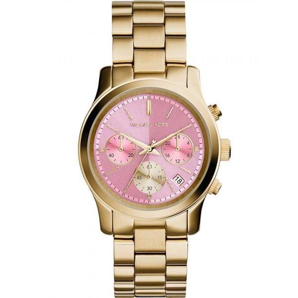 Michael Kors Women's MK6161 Runway Round Goldtone Bracelet Watch