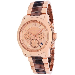 Michael Kors Women's MK6155 Cooper Round Rose Gold-tone with Tortoise-shell Acetate Bracelet Watch
