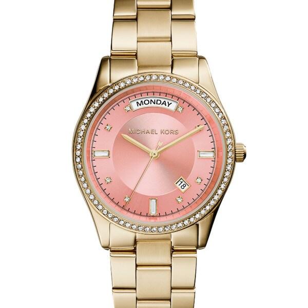 Michael Kors Women's MK6143 Colette Round Goldtone Bracelet Watch