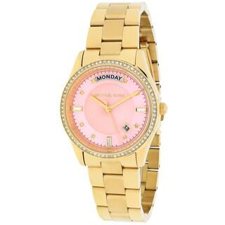 Michael Kors Women's Colette Round Goldtone Bracelet Watch