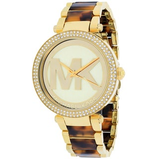 Michael Kors Women's MK6109 Parker Round Gold-tone with Tortoise-shell Acetate Bracelet Watch