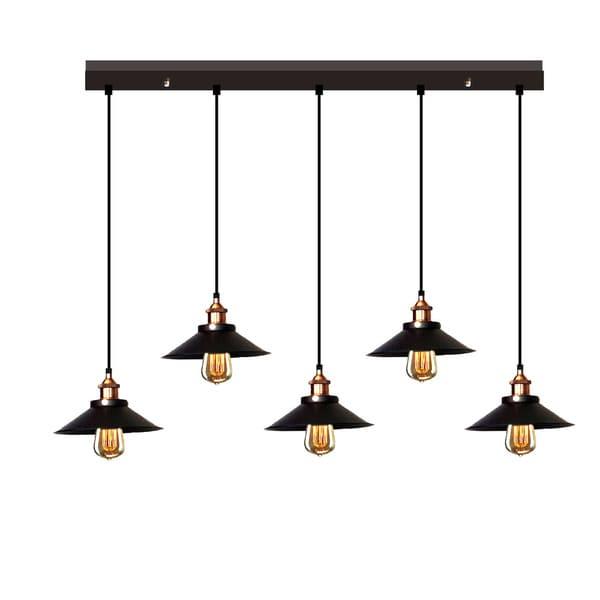 Hollie Adjustable Cord 5 Light Edison Lamp With Bulbs