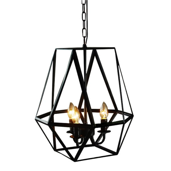 shandie antique bronze geometric edison chandelier with bulbs free shipping today - Edison Chandelier