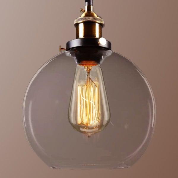 ... Chandeliers U0026 Pendant Lighting. ImageGallerySpinner. Maisie 8 Inch  Adjustable Height Edison Pendant With Bulb
