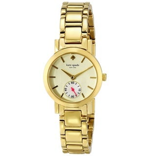 Kate Spade Women's 'Gramercy Mini' Yellow Gold Tone Stainless Steel Quartz 1YRU0482