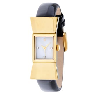 Kate Spade Women's 'Carlyle' Yellow Gold Tone Stainless Steel Quartz 1YRU0068