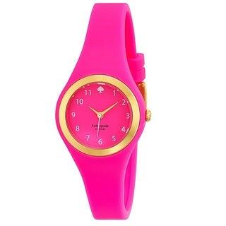 Kate Spade Women's 'Rumsey' Pink Silicone Quartz 1YRU0608