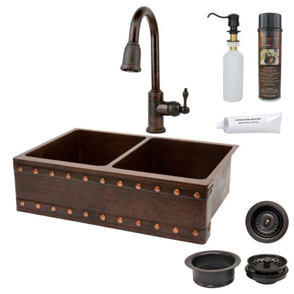 Handmade Brown Pull Down Faucet Package (Mexico)