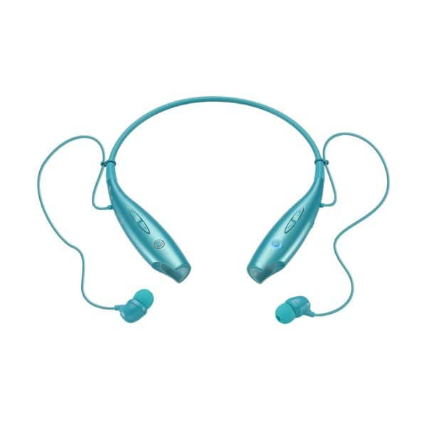 Shop Lg Electronics Tone Hbs 730 Teal Bluetooth Headset Retail Packaging Overstock 10183299