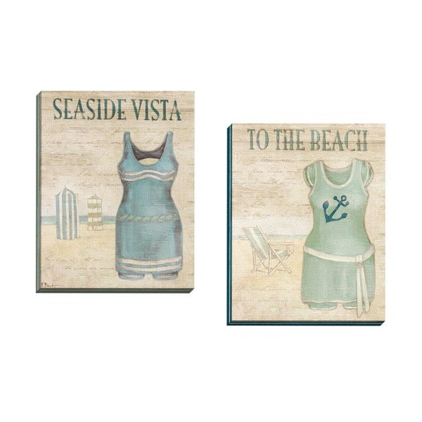 Framed Wall Art Set Of 2 portfolio canvas decor paul brent 'vintage bathing suits ii