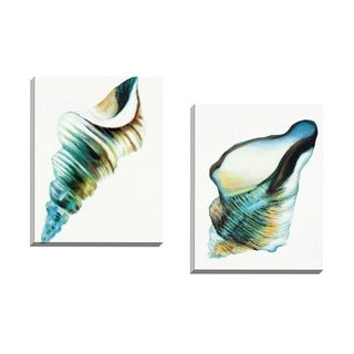 Portfolio Canvas Decor Sandy Doonan 'Coastal Fragments II' Framed Canvas Wall Art (Set of 2)