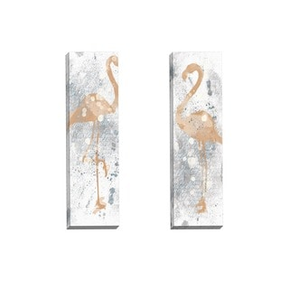 Portfolio Canvas Decor IHD Studio 'Gold and Grey Flamingo I' Framed Canvas Wall Art (Set of 2)