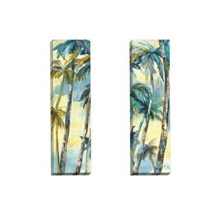 Portfolio Canvas Decor Sandy Doonan 'Dancing Palms Panel I' Framed Canvas Wall Art (Set of 2)