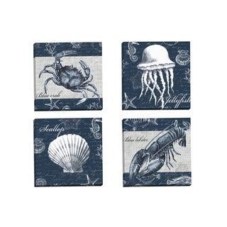 Portfolio Canvas Decor Elena Vladykina 'Sea Life Blue Crab' Framed Canvas Wall Art (Set of 4)