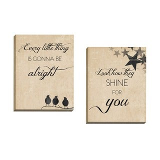 Portfolio Canvas Decor Scott Heffernan 'Alright' Framed Canvas Wall Art (Set of 2)