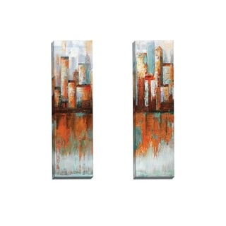 Portfolio Canvas Decor Sandy Doonan 'City Limits I' Framed Canvas Wall Art (Set of 2)