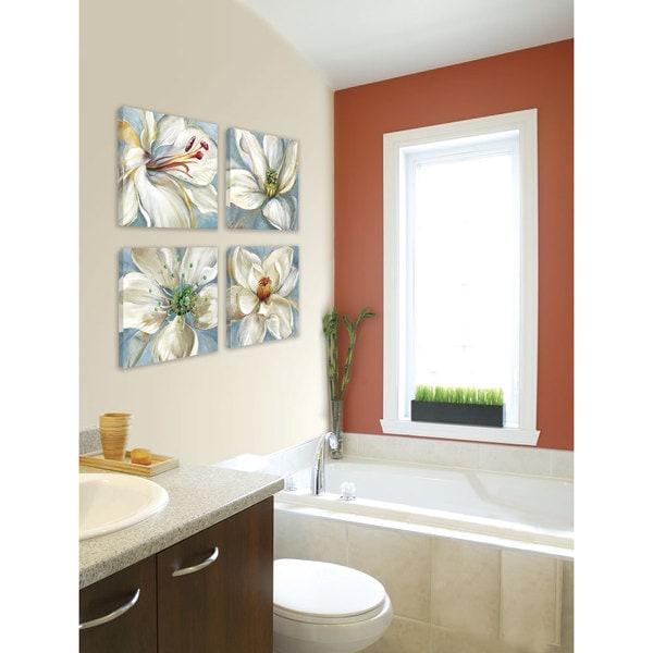 shop portfolio canvas decor sandy doonan 39 colorburst i 39 framed canvas wall art set of 4 free. Black Bedroom Furniture Sets. Home Design Ideas