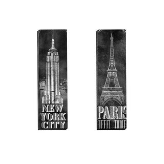 Portfolio Canvas Decor IHD Studio 'Chalkboard - Eiffel Tower 2' Framed Canvas Wall Art (Set of 2)
