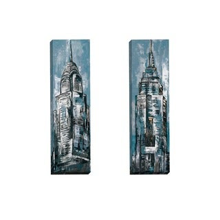 Portfolio Canvas Decor Sandy Doonan 'NY Study Blue I' Framed Canvas Wall Art (Set of 2)