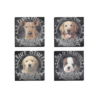 Portfolio Canvas Decor IHD Studio 'Chalkboard - Bone-A-Fide 1' Framed Canvas Wall Art (Set of 4)