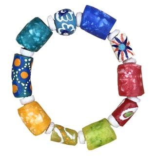 Handmade Global Mamas Marble Rainbow Bracelet (Ghana)