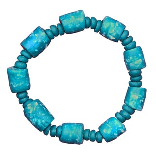 Handmade Global Mamas Marble Bracelet in Teal (Ghana)