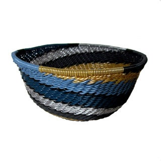 Handcrafted Recycled Telephone Wire Galaxy Bowl (South Africa)