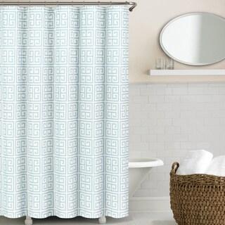 Echelon Home Greek Key Shower Curtain